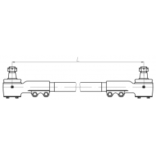 Тяга рулевая АМАЗ 101-3414010 (L=520мм) МАЗ 103/107 (БААЗ)
