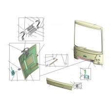 Панель передка н/о АМАЗ левая в сб. 203065-5301541 (ОЗАА) МАЗ 206/226