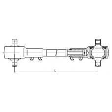 "Штанга реактивная (L= 495 мм) 206060-2909014 МАЗ-206 (ОАО ""БААЗ"")"