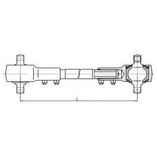 "Штанга реактивная АМАЗ (L=750 мм) 102-2919014 МАЗ 104, 152, 251 (ОАО ""БААЗ"")"