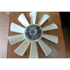 Муфта вязкостная в сборе с вентилятором ПАЗ, КАВЗ с дв.Cummins B3.9 140 CIV (0 2000 3344) Ø520мм-10 лопастей