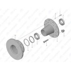Диск тормозной, передний Yutong 6122 3501-00114